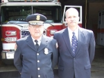 Deputy Chief White and Chief Mike Brackin