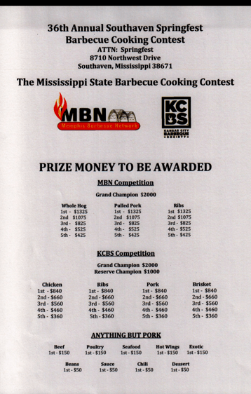Springfest Barbecue Cooking Contest